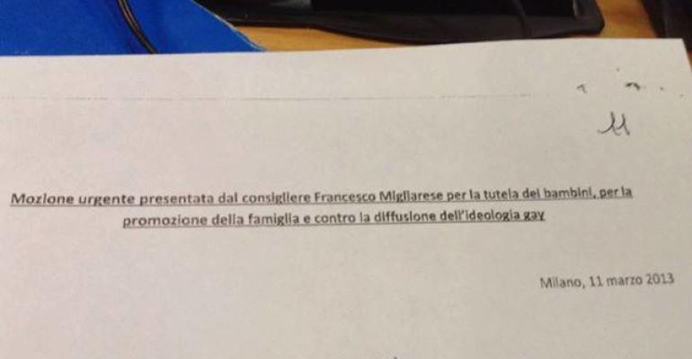 """""""Stop alla diffusione dell'ideologia gay"""": PDL shock a Milano"""