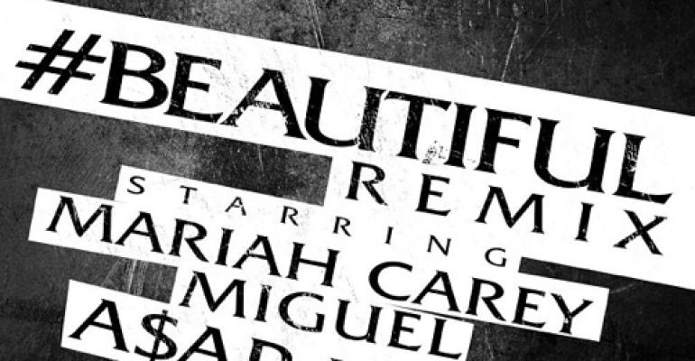 Mariah Carey feat Miguel & A$AP Rocky con #Beautiful (Remix)