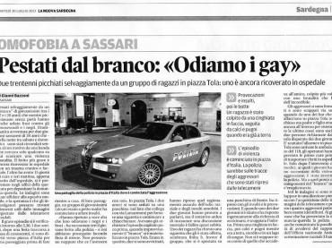 Omofobia a Sassari – ODIAMO I GAY – e piovono botte