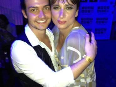 Valerio Scanu al Gay Village con Vladimir Luxuria