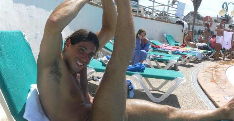 Edoardo Giorgetti e la spaccata da nuotatore