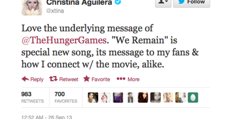 We Remain: nuova canzone di Christina Aguilera per Hunger Games 2
