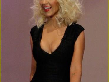 Christina Aguilera  magrissima da Jay Leno