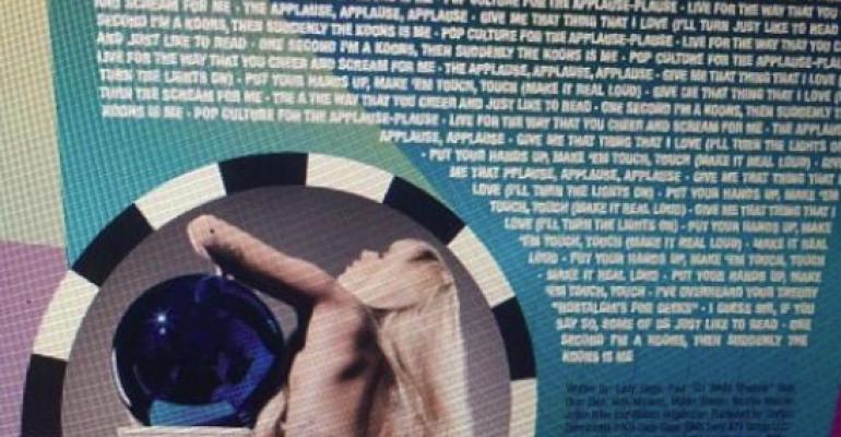 Lady Gaga di CULO per Artpop