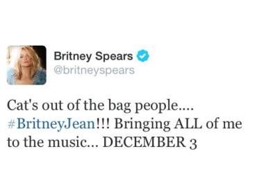 Britney Jean – questo il titolo del nuovo album di Britney Spears – esce il 3 dicembre