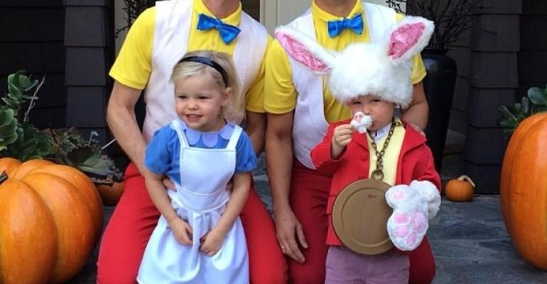Neil Patrick Harris e David Burtka adorabili Pincopanco e Pancopinco per Halloween