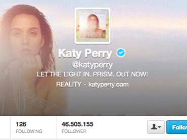 Katy Perry batte Justin Bieber: è la persona più seguita al mondo su Twitter