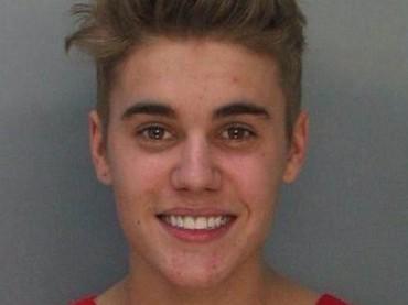 Justin Bieber in carcere – ecco la foto segnaletica
