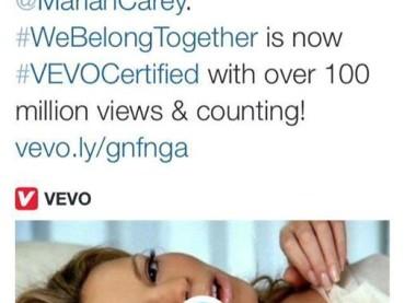 Mariah Carey CERTIFICATA Vevo – We Belong Together abbatte il muro dei 100 milioni di visualizzazioni