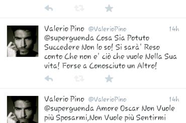 Valerio Pino torna single: Oscar non vuole più sposarmi