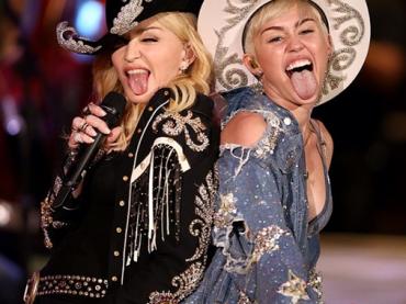 Madonna e Miley Cyrus 'unplugged' – le foto dell'evento MTV