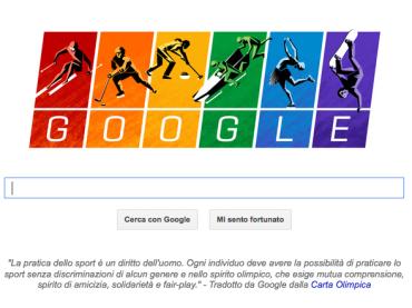 Sochi 2014 – doodle gay per Google