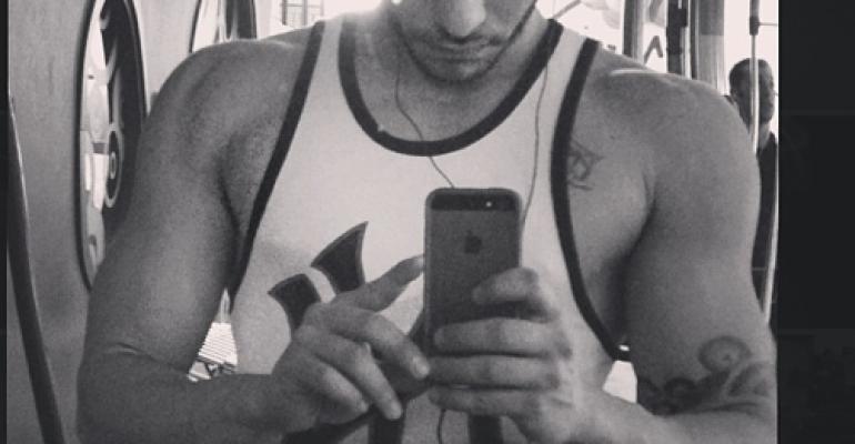 Marco Carta palestrato su Instagram