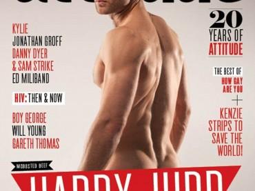 Harry Judd  ancora una volta nudo per i 20 anni di Attitude
