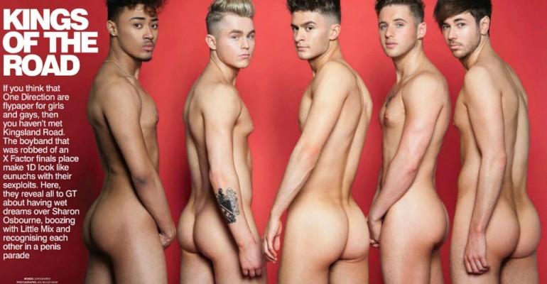 Kingsland Road nudi si palpano le chiappe su Gay Times