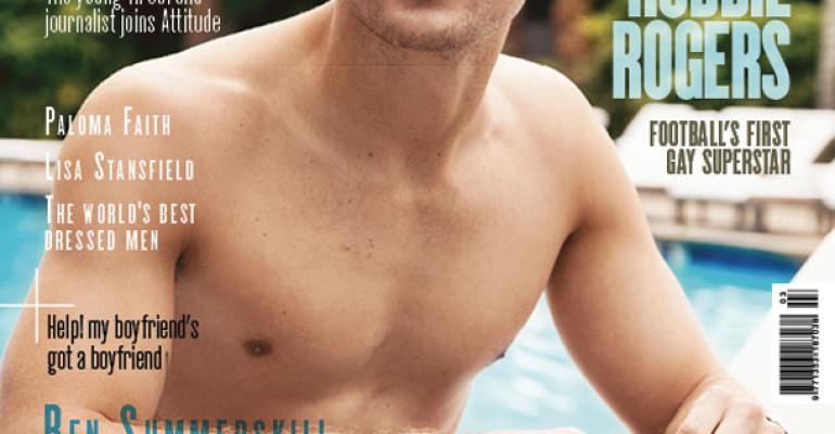 Robbie Rogers in costume sulla cover di Attitude Magazine