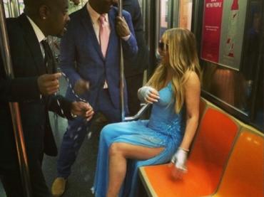 Mariah Carey in metro – le foto