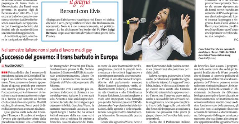Libero e il giornalismo velatamente omofobo – se Conchita Wurst diventa UN TRANS