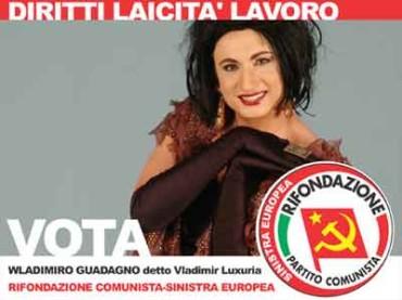 Vladimir Luxuria apre a destra: credo nella Pascale e in Berlusconi che si è ricreduto su certe posizioni prese in precedenza