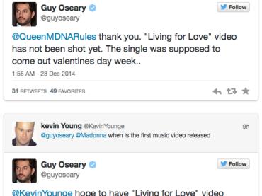 Living for Love di Madonna: video sul set a gennaio, on line a febbraio – parola di Guy Oseary
