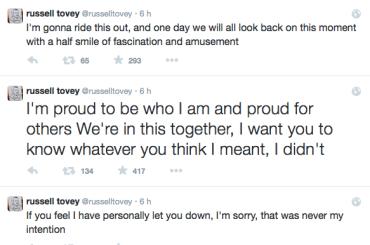 Russell Tovey chiede scusa su Twitter per lo scivolone sui 'gay effeminati'