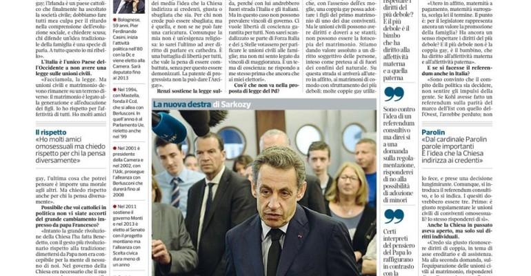 Unioni gay, Pier Ferdinando Casini ancora parla e caga il cazzo