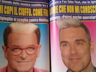 Cristiano Malgioglio vs. Robbie Williams: mi hai copiato il ciuffo, potrei anche querelarlo