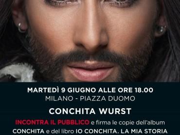 Conchita Wurst a Milano per presentare disco e autobiografia – incontro con il pubblico il 9 giugno