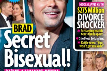 Brad Pitt è bisex e ama la ciolla: Star Magazine la spara grossa