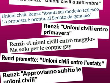 Unioni Civili e non solo, le associazioni GLBT italiane scrivono al governo