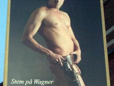 John Erik Wagner, il candidato danese cor pisellone elettorale