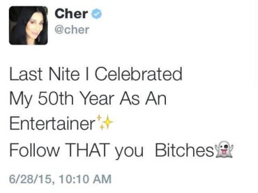 Cher festeggia 50 anni di carriera