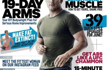 Chris Pratt fisicato su Men's Health, dai 140 kg del 2013 alla perfezione