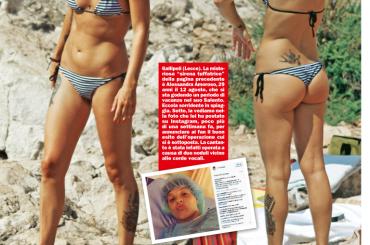 Alessandra Amoroso, bikini in spiaggia su CHI