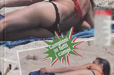 Flavia Pennetta-Fabio Fognini, palpatine hot in spiaggia su Novella 2000