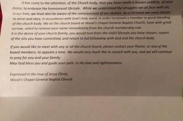 Dylan Settles, cacciato dalla sua chiesa perché gay