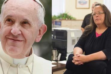 Kim Davis, dal Vaticano rettificano: Papa Francesco l'HA incontrata ma non appoggia la sua causa (peccato lei dica il contrario)