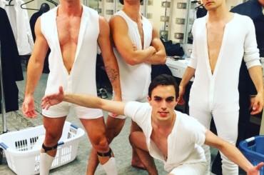 Rent, foto di gruppo per Jake Shears, Darren Criss, Will Carlyon & Andy Mientus