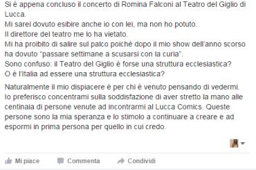 Immanuel Casto: vietato lo show al Teatro del Giglio di Lucca per non imbarazzare la CURIA