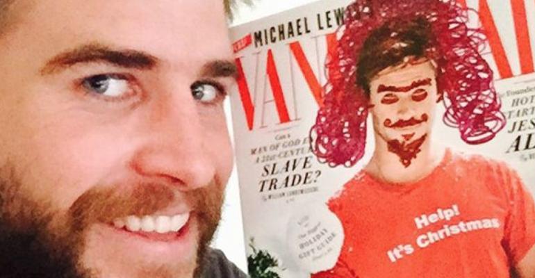 Liam Hemsworth versione Sirenetta su Instagram