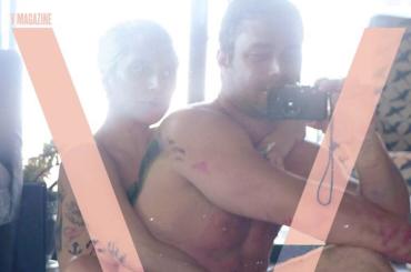 Lady Gaga e Taylor Kinney nudi su V Magazine – la cover