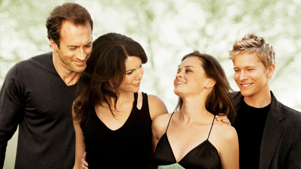 "This 2006 publicity photo released by The WB shows ""Gilmore Girls"" stars, from left, Scott Patterson as Luke Danes, Lauren Graham as Lorelai Gilmore, Alexis Bledel as Rory Gilmore and Matt Czuchry as Logan. The show's season finale airs Tuesday, May 9, 2006. At issue in the episode are Lorelai's postponed wedding to Luke and Rory's up-and-down relationship with boyfriend Logan.(AP Photo/The WB,Frank Ockenfels)"