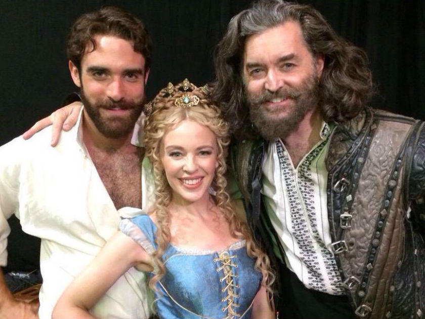 Kylie-Minogue-and-Joshua-Sasse-for-Galavant