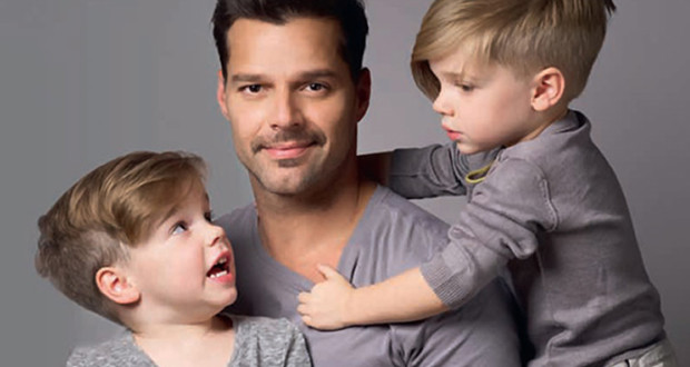 Ricky-Martin-and-his-kids