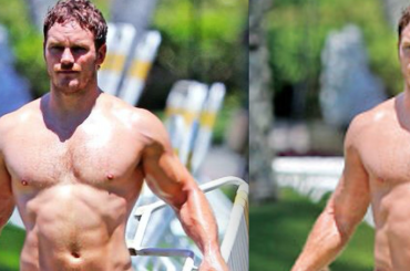 Chris Pratt gnocco in piscina