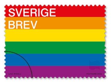 Svezia, francobolli rainbow per celebrare l'amore senza limiti e l'uguaglianza