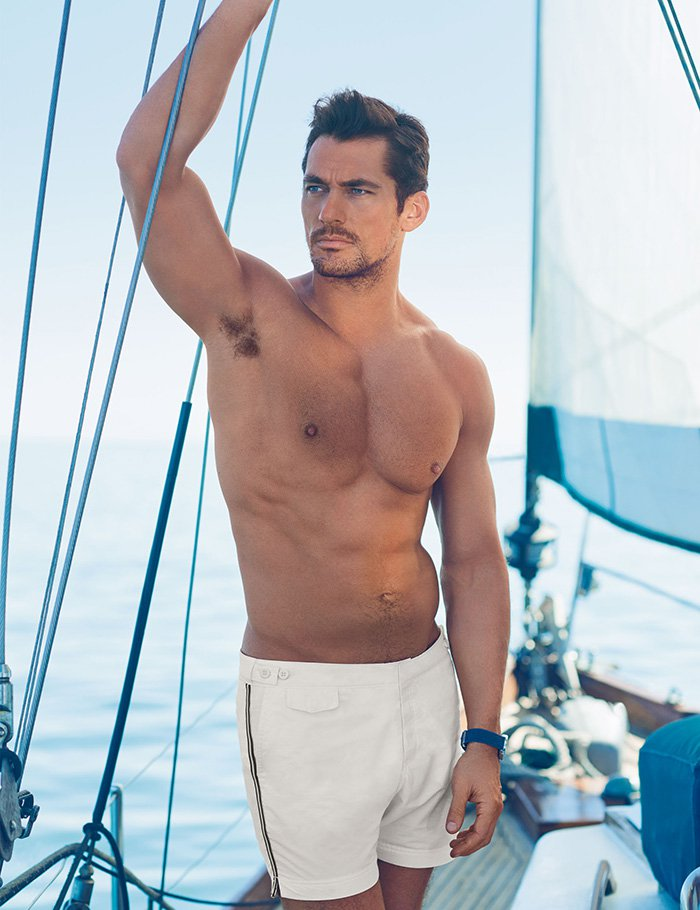 David-Gandy-for-Autograph-White-Sports-Stripe-Tailored-Fit-Mid-Length-Quick-Dry-Swim-Shorts-£29.50-The-Dapifer