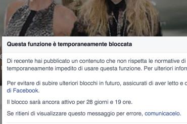 Facebook 'blocca' Spetteguless per un mese – seguite gli aggiornamenti su Twitter