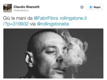 Fabri Fibra, Rolling Stone parla di 'pericoloso precedente' e se la prende con Valerio Scanu