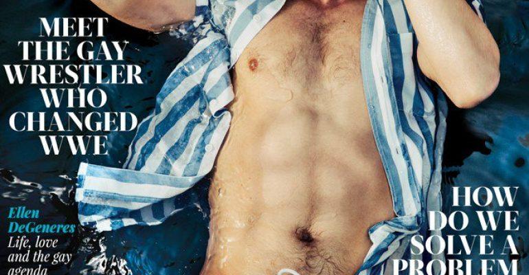 Gregg Sulkin bagnato e in costume sulla cover di GAY TIMES – foto